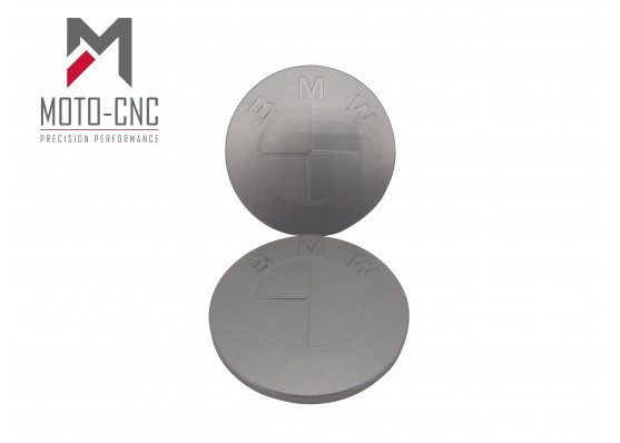 2 x Custom Aluminium BMW Dome Fuel Tank Badges