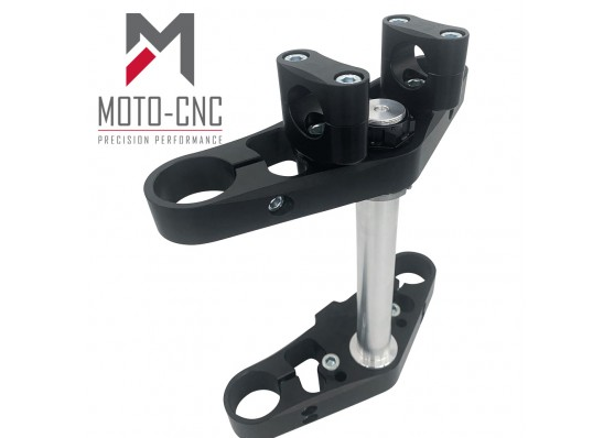 Flat Track Triple Clamps & Stem-Double Pinch Btm Clamp-Single Pinch Top Clamp