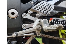 Ducati Vario Adjustable Front Foot Peg Kit - Silver, Raw Or Black Anodised S004