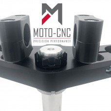 22mm M12 Handlebar Clamps 5mm Offset Black Anodised Finish
